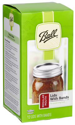 Ball 12PK Reg Jar Cap