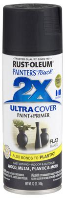 PT2X 12OZ FLT BLK Paint