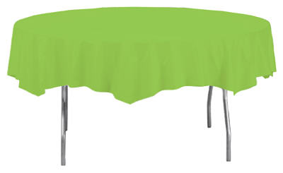 "82""Lime RND Table Cover"