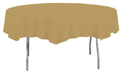 "82"" GLD RND Table Cover"