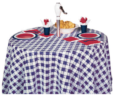 "82"" BLU RND Table Cover"