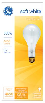 GE300W CLR STD LGT Bulb - Woods Hardware