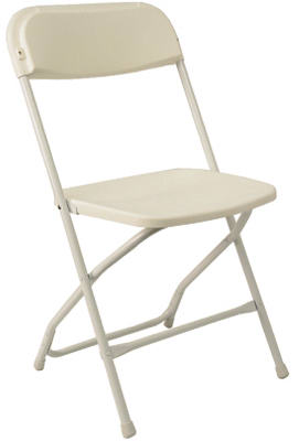 WHT Plas Folding Chair