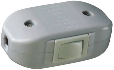 6A WHT Feed Cord Switch - Woods Hardware
