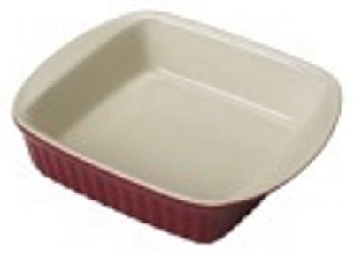 2QT RED Cer SQ Dish - Woods Hardware
