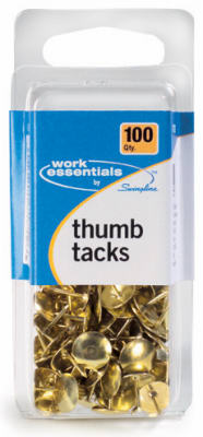 100CT GLD Thumb Tacks - Woods Hardware