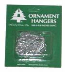 HOLIDAY TRIM 3926000 100 Count, Silver Regular Ornament Hook.<br>Made in: US