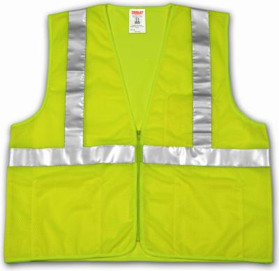 2x-3X Lime Safe Vest