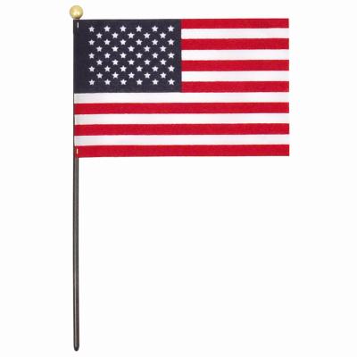 4x6 US Hand Flag DSP