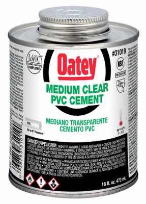 16OZ CLR MED PVC Cement