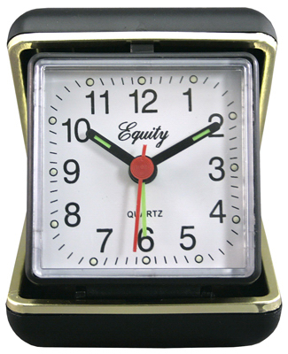 BLK QTZ Alarm Clock