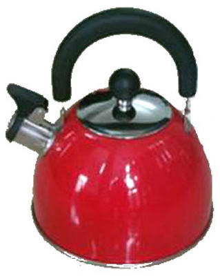 2QT SS RED Tea Kettle