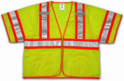 2X/3XL YEL/GRN Vest