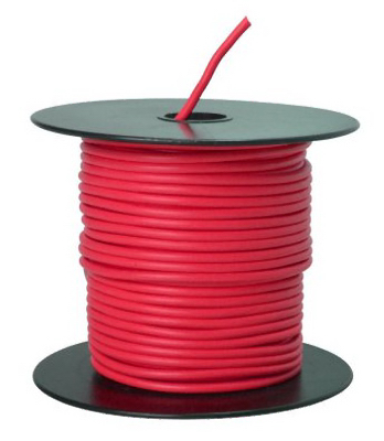 100 RED 14GA Prim Wire