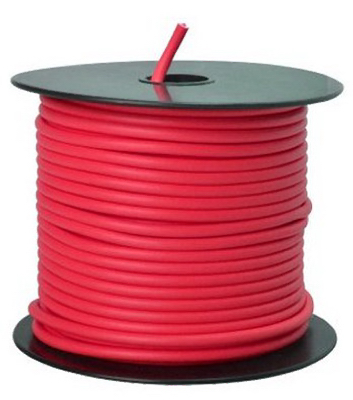 100 RED 12GA Prim Wire