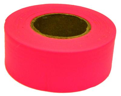 150 Glo PNK Flag Tape