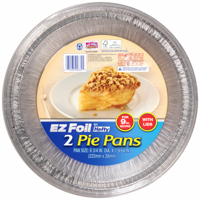 3PK RND Foil Pie Pan