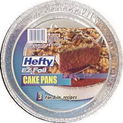 3PK RND Foil Cake Pan