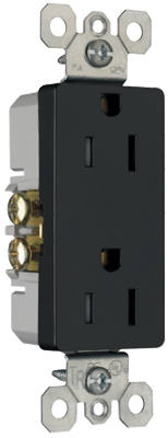 15A BLK Safe Outlet - Woods Hardware