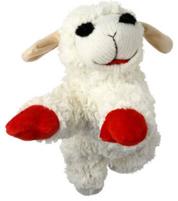 "10"" Lamb Chop Dog Toy"