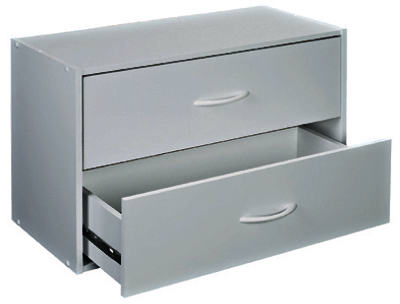 2 Drawer WHT Organizer