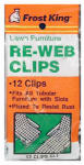 THERMWELL PRODUCTS CL1 12 Pack, Webbing Clips, Fits All Tubular Furniture With Slots