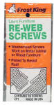 THERMWELL PRODUCTS ZP1 20 Pack, Webbing Screws, Polybagged.<br>Made in: CN