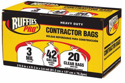 20PK 42GAL CLR Cont Bag - Woods Hardware