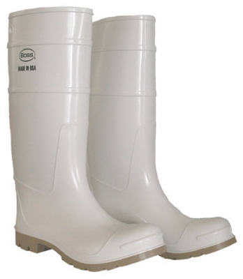"SZ13 16"" WHT PVC Boot"
