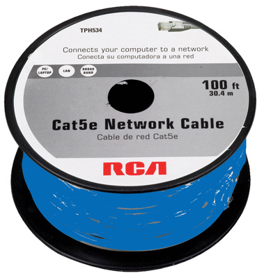 100' BLU Cat5e Cable - Woods Hardware