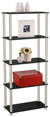 5-Tier BLK Book Shelf