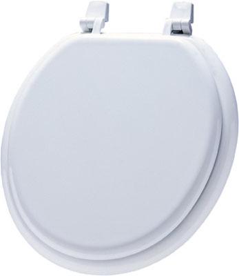 WHT RND WD Toilet Seat