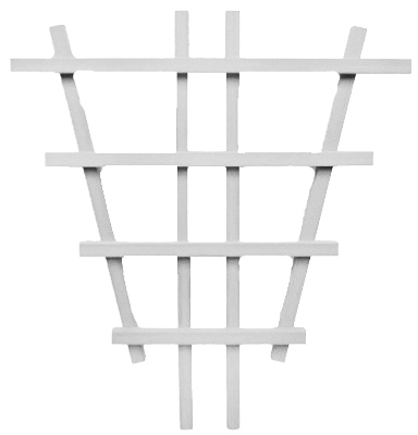 "24"" WHT Barrel Trellis"