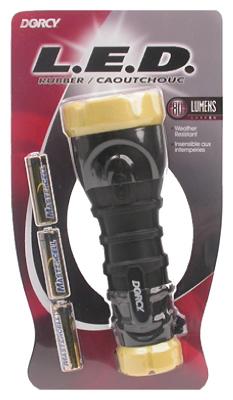 3AA LED Rubb Flashlight
