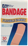 GREAT LAKES WHOLESALE 792215851101 30 Count, Coralite Flex Fabric Bandages, Soft, Flexible Fabric Bandages