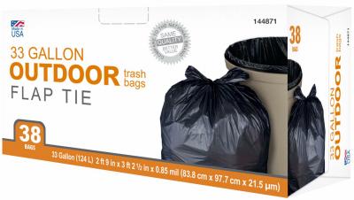 TV 38CT 33GAL Trash Bag - Woods Hardware