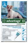 BAYER ANIMAL HEALTH LLC 04461723 4 Pack, Teal, Advantage II Flea & Lice Control, For