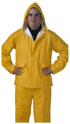 MED YEL PVC Rainsuit