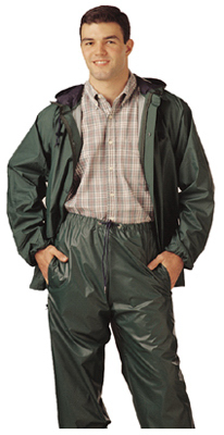 2XL GRN PVC Rainsuit