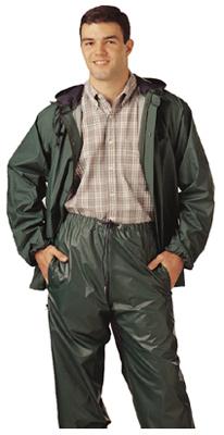 MED GRN PVC Rainsuit