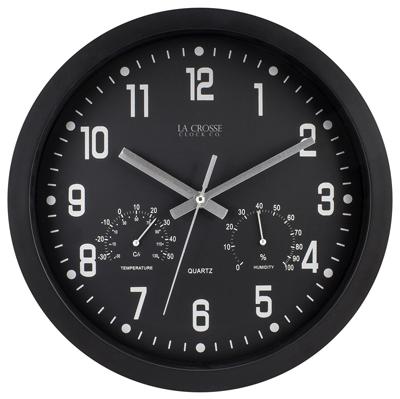 """12"""" BLK Plas Wall Clock"""