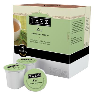 16CT Tazo Zen Tea K Cup