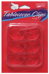 CREATIVE CONVERTING 01600 6 Count, Clear, Plastic Table Cover Clip.<br>Made in: CN