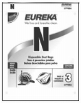 "ENGLEWOOD MARKETING GROUP INC 57988B 3 Pack, Eureka, Style ""N"" Replacement Paper Vacuum Bag, For"