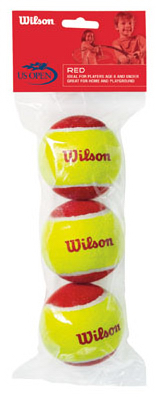 3PK RED Tennis Ball