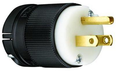 15A125V BLK Straig Plug - Woods Hardware