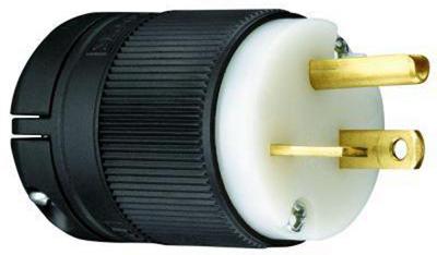 20A125V BLK GRND Plug - Woods Hardware
