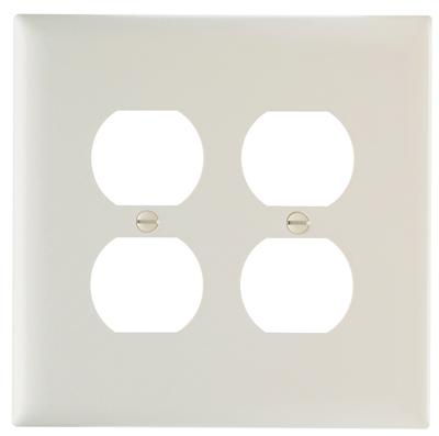 ALM 2G DPLX Wall Plate - Woods Hardware