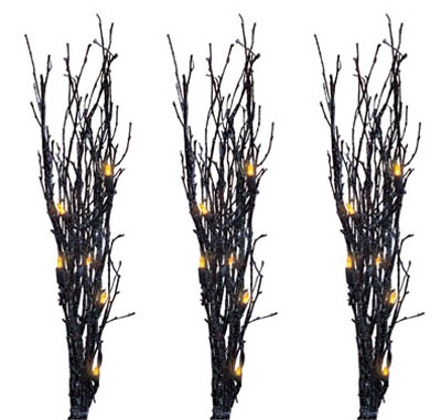 3PC BLK Glitter Twigs