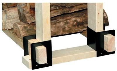 4PC Log Rack Brackets